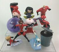 The Incredibles Lot 10pc Superhero Toy Figures Disney McDonalds Complete Set B2