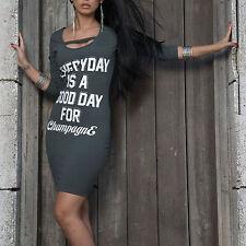 By Alina Damenkleid Minikleid Longshirt Tunika Kleid Party Sexy Strandkleid XS-M