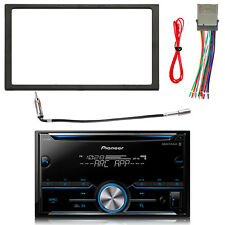 Pioneer Double DIN Bluetooth MIXTRAX CD Radio w/ Kit + Harness, Antenna Adapter