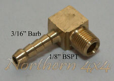 Barbed Elbow fitting 3/16inch barb to 1/8BSPT male 90 degree
