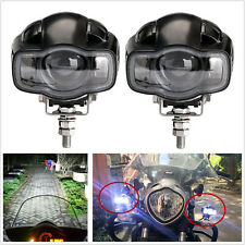 2 Pcs 2000LM 20W Motorcycle CREE LED Spot Lights Auxiliary Headlights & USB Port