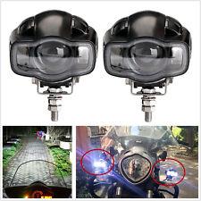 2 Pcs 2000LM 20W Motorcycle CREE LED Spot Lights Auxiliary Headlights & USB Port