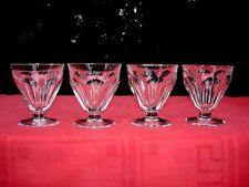 BACCARAT TALLEYRAND 4 WINE CRYSTAL GLASSES VERRES A VIN CRISTAL TAILLÉ ART DECO