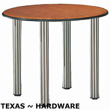 """4 Pieces Metal Stainless Steel Legs Furniture Table Cabinet Feet 12"""""""