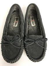 Minnetonka Charcoal Gray Slipper Moccasin Size 8