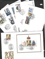 NORWAY sc#922-33 (1988) ON FDC'S