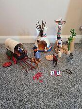 PLAYMOBIL WESTERN SET (Stagecoach,Indian Camp,Totem Pole,Cowboys,Horses)