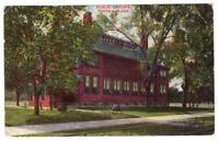 Vintage Postcard Public Library Topeka Kansas Postmark 1909 J20