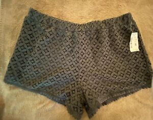New Aeropostale Dark gray Charcoal Lace Shorts Size Small NWT Msrp $44.50