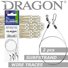 Lure fishing leader wire trace Dragon SURFSTRAND 2pcs 5-18kg up to 40cm Pike rig