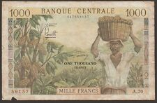 New listing Cameroon P-12b / B306b 1000 Francs lithographed 59157