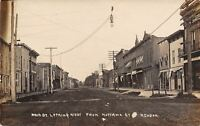 Mendon MI Yaple, DDS~Paint Factory~Dirt Main St @ Nottawa~McClellan RPPC c1909