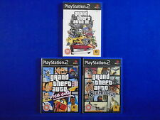 ps2 GRAND THEFT AUTO x3 TRILOGY III + Vice City + San Andreas + MAPS PAL UK