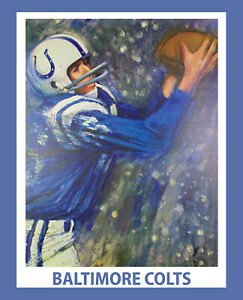 BALTIMORE COLTS 1960's Poster - 8x10 Wall Art 8x10 Color Photo