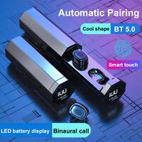 TWS-03 Bluetooth 5.0 Drahtlose Smart@ Touch Mini-Stereo-Sound-Sportkopfhörer DE