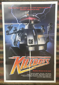 Authentic Theatrical Movie Poster Killbots (Chopping Mall) 27x41 FLD XF - SUPERB