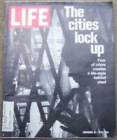 Life Magazine November 19, 1971 Cities Lock Up on Cover/China/Archie Bunker/