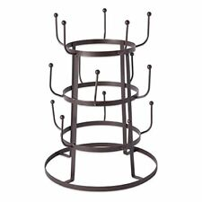 Home 3 Tier Vintage Metal Wire Mug Tree Stand Black 15 Mug Capacity