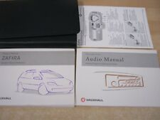 GENUINE VAUXHALL ZAFIRA OWNERS MANUAL HANDBOOK PACK 2001-2005 M122