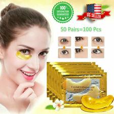100 Pcs Gold Crystal Collagen Under Eye Patch Wrinkle Anti Aging Dark Circle Pad