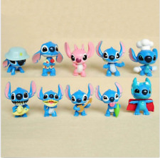 Lilo And Stitch Angel Family Girlfriend Cartoon 10 PCS Action Figure Gift Toy