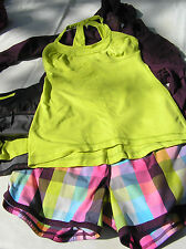 Lululemon 6 Scoop Me Up Tank Split Pea Yellow EUC! Rare!