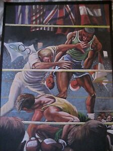 Ernie Barnes Limited Edition Signed Olympic (Boxing) Poster #ed 181/300