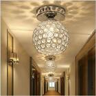 Silver /Gold K9 Crystal Ceiling Light Chandelier Lamp Lighting E14 LED Bulb Room