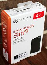 Seagate Backup Plus Slim USB 3.0 2TB Portable Hard Drive - Black - NEW!!!