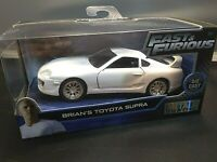 Fast & Furious Brian's Toyota Supra Collectors Series White Diecast 1:32 Scale