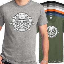 M Camiseta de Motociclista Mountain Bike Calavera y Huesos Cruzados Moto Trail