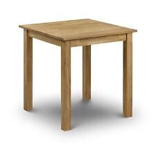 Julian Bowen Coxmoor Solid Wood American White Oiled Oak Small Square Table