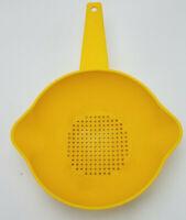Vintage Tupperware Yellow 1 Quart Colander Strainer Handle #1200-10
