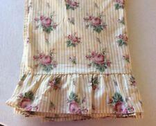 Ralph Lauren Ruffled Sophie Brooke Stripe Queen Flat Sheet  Blue US Label