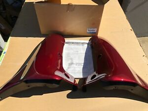 99 - 05 Mazda Miata aero flairs lg Mud flaps Garnett Red OEM New N067 V4 930F 21