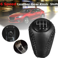 Black Gear Stick Shift Knob 6 Speed for Mazda 3 BL BK/ 5 CR CW/ 6 II GH L5A2