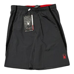 NWT$60 Mens Spyder Active gray / red Short size XL (SPM504)