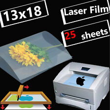 13 x 18,Silk Screen Printing Transparency Film for Laser Printer Paper,25 sheets