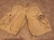 euc AMERICAN EAGLE Tan Khaki Longboard CARGO SHORTS Boys Young Men 26 Waist