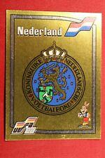 PANINI EURO 88 # 212 BADGE NEDERLAND NEW WITH ORIGINAL BACK!!