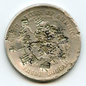 Genuine 1876-S US Silver Trade Dollar | Multiple Chop Marks