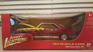 Johnny Lightning  1/24  Muscle Cars  1966  Chevy Nova SS