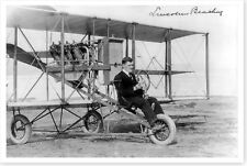 Aviation Pioneer Lincoln Beachey Seated In His Airplane 1913 Silver Halide Photo