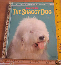 "The Shaggy Dog Little Golden Book 1959 ""A"" edition Walt Disney's HTF"