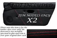 Rojo Costura encaja Mazda Mx5 Mk1 Miata 89-97 Jdm 2x Puerta Tarjeta cubiertas de cuero