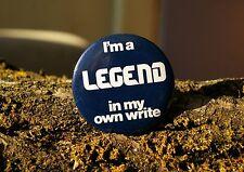 "I'm a Legend In My Own Write Retro Computer Tech 2 1/4"" Pin Pinback Button"