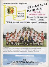 Orig.PRG     DFB Pokal  94/95   LOK ALTMARK STENDAL - BAYER LEVERKUSEN  1/4 F. !