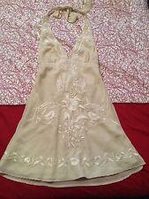 BNWT New Bardot Mini Dress Womens Size 10 Cream Halter Neck Ladies Rrp $119.95 S