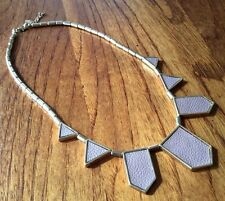 leather insert triangle deco House tribal necklace Stations Harlow