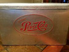 Vintage Drink Pepsi-Cola Aluminum Cooler Cronstroms Manufacturing Inc. MN